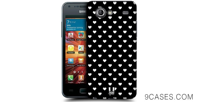 09-Head Case Designs Hearts Black & White Snap Back Case for Samsung Galaxy S Advance I9070