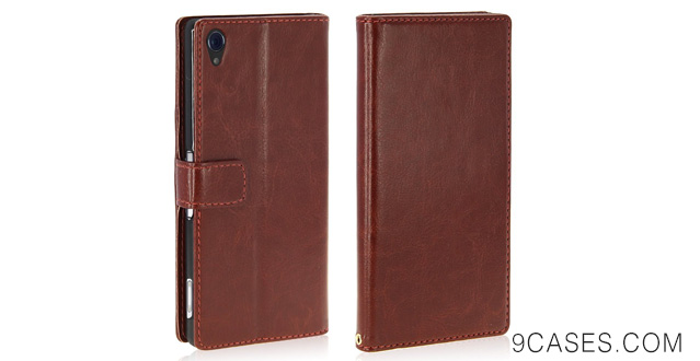 09-LK Sony Xperia Z3 Case - Wallet PU Leather Case Flip Cover Built-in Card Slots & Stand for Sony Xperia Z3