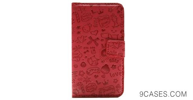 11-Magic Girl Cute lovely Little Witch Flip Pouch Cover PU Leather Skin Case Cover for Samsung Galaxy S Advance I9070 (red)