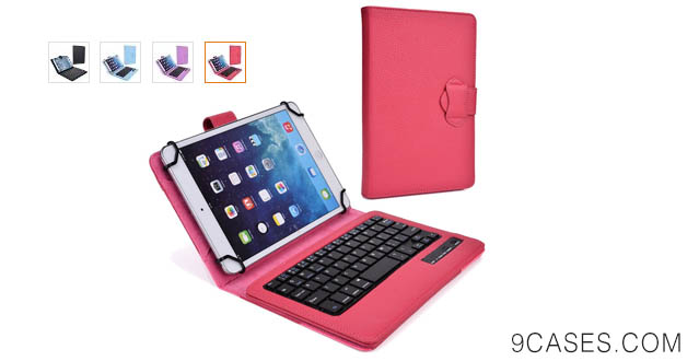 02-Cooper Cases(TM) Infinite Executive Tesco Hudl 7 Tablet Keyboard Folio in Rose Red