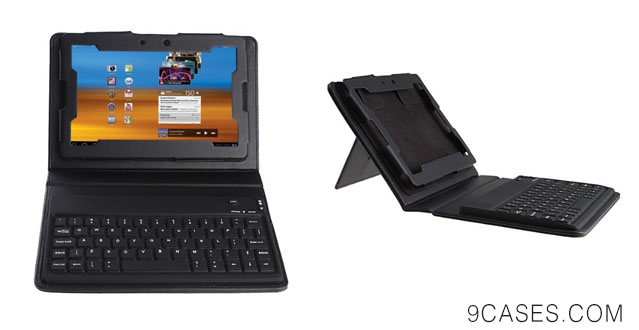 04-Folio Leather Case with Built-in Bluetooth Keyboard For Blackberry Playbook