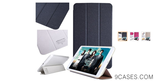 05-Nillkin Sparkle Ultra Thin Stand Leather Cover with Anoke Card Stickers for LG G Pad 8