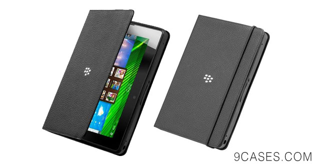 06-RIM BlackBerry PlayBook OEM Leather Book Binder - Black (ACC-40278-301)