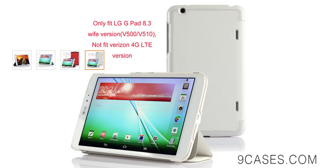 07-VSTN®LG G Pad 8.3 Ultra-Thin Multi-angle Stand Slim Smart Cover Case