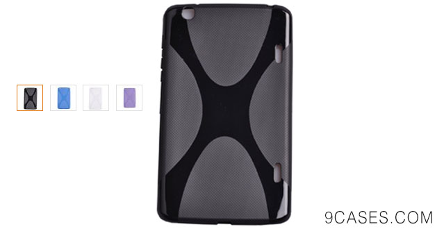 08-Einzige Slim Fit Flexible X-TPU Silicone Case Cover for LG G Pad 8.3 with Free Universal Screen-stylus (Black)