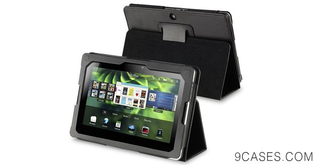 08-eForCity PU Leather Flip Pouch Skin Case Cover with Stand for Blackberry Playbook