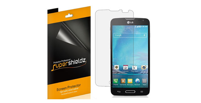01-SUPERSHIELDZ- High Definition Clear Screen Protector For LG Optimus L90 (T-Mobile) + Lifetime Replacements Warranty [6-PACK] - Retail Packaging