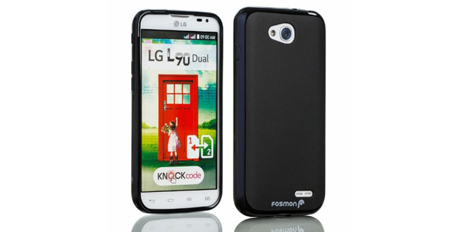 02-Fosmon DURA-FROST Smooth Durable & Flexible Slim Fit TPU Case Cover for LG Optimus L90 _ T-Mobile LG D415 Retail Packaging (Black)