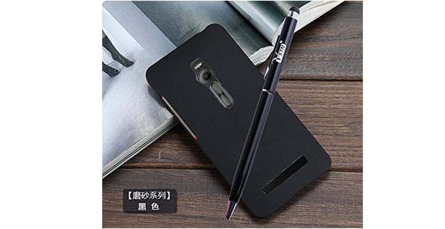 03.KuGi ® High quality ultra-thin PC Case Cover with screen protector & STYLUS PEN For ASUS ZenFone 2 ZE500CL 5 inch (Black)