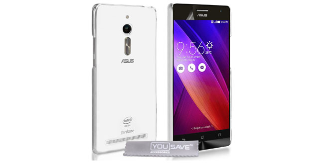 06.Yousave Accessories Asus Zenfone 2 (5.5 Inch Version) Case Super Slim Clear Silicone Gel Cover