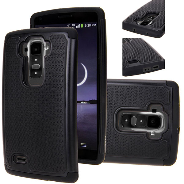 07-FLEX 2 Defender case, E LV LG G FLEX 2 Case Full Body Hybrid Armor Protection Defender Case Cover - Dual Layer Armor Protective Case Cover for LG G FLEX 2 - BLACK