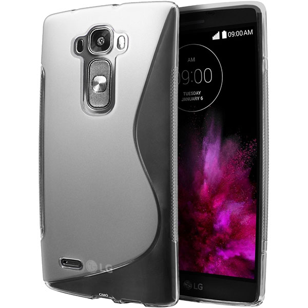 08-Cimo [Wave] Premium Slim TPU Flexible Soft Case for LG G Flex2 (2015) - Clear