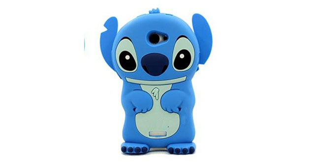 10-3D Blue Stitch & Lilo Soft Silicone Case Cover For LG Optimus L70 Exceed 2 MS323 D325 blue
