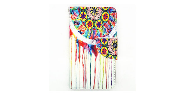 10-Yakamoz Mural Wall Painting Leather Flip Wallet Card Slots Stand Case for LG L90 Optimus with Free Screen Protector & Stylus Pen