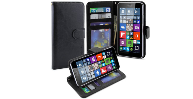 10. LK Microsoft Lumia 640 XL Wallet Case, Luxury Wallet PU Leather Case Flip Cover Built-in Card Slots & Stand For Microsoft Lumia 640, [Wallet Feature] BLACK
