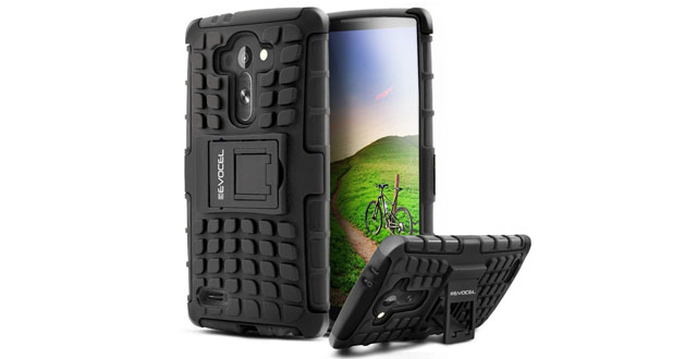 02. LG G4 Case, Evocel® Heavy Duty Rugged Armor Case with Stand For LG G4 (2015 Release) - Evocel® Retail Packaging, Black