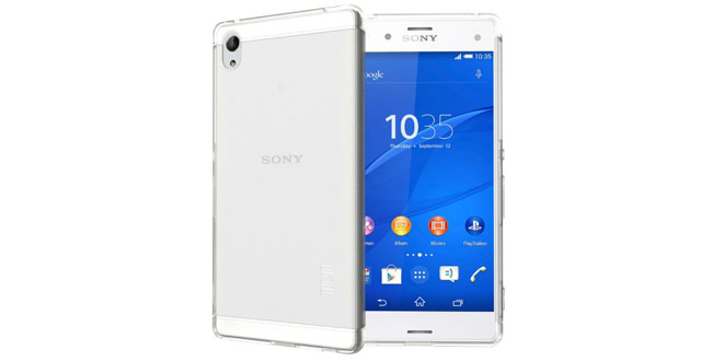 03. TUDIA Ultra Slim LITE TPU Bumper Protective Case for Sony Xperia Z4 Smartphone (Not Compatible with Sony Xperia Z4 Tablet) (Frosted Clear)