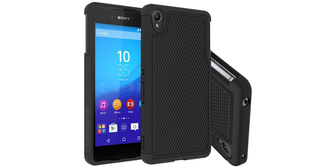 07. Sony Z4 Case, LK Sony Xperia Z4 Case [Drop Protection] [Shock-Absorption] [Impact Resistant] Hybrid Dual Layer Armor Defender Protective Case Cover for Sony Xperia Z4 (HY Series - Black)