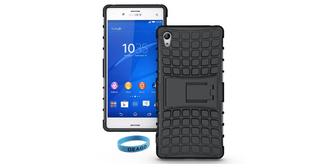 09. Sony Xperia Z4 Case Cover Accessories - Tough Rugged Dual Layer Protective Case with Kickstand for LG G3 with a OEAGO Stylus Pen