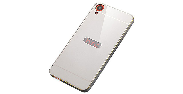 02. Hi5Gadget ZLDECO Luxury Metal Frame + PC Back Case Bumper Cover Protective For HTC Desire 826 (Silver metal)