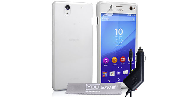 04.-Yousave-Accessories-Sony-Xperia-C4-Case-Super-Slim-Clear-Silicone-Gel-Cover-With-Car-Charger
