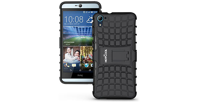 06. HOTCOOL Heavy Duty Rugged Dual Layer Armor with Kickstand Cover Case For HTC Desire 826