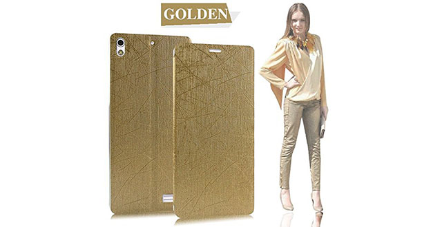 06. Ultra-Thin-Rain Style High Quality Case-will only fit Sony Xperia M4 Aqua Smartphone (Gold)