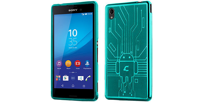 09. Cruzerlite Bugdroid Circuit TPU Case Compatible with Sony Xperia M4 Aqua - Teal