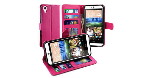 10. LK HTC Desire 826 Wallet Case, Luxury Wallet PU Leather Case Flip Cover Built-in Card Slots & Stand For HTC Desire 826