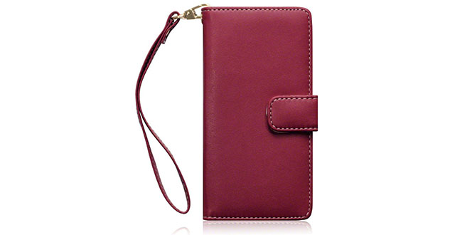 10. Terrapin Premium PU Leather Wallet Case with Card Slots Cash Compartment and Detachable Wrist Strap for Sony Xperia M4 Aqua