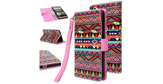 11. HTC Desire 826 Cover Flip Folio Full Body Protection with Stand Feature by E LV for HTC Desire 826 - TRIBAL