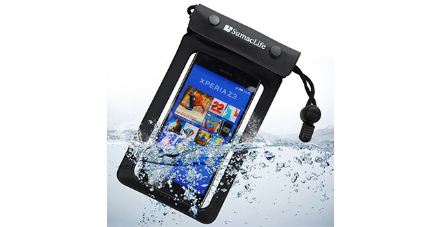 14. Sumaclife Universal Waterproof Cellphone Case for Sony Xperia M4 Aqua