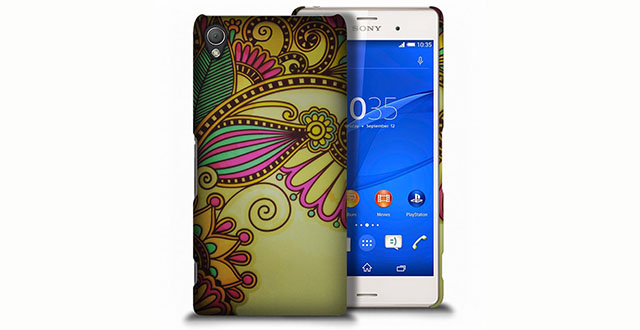 02. CoverON® for Sony Xperia Z3V Hard Case Slim Fit Back Cover (Will Not Fit Z3 or Z3 Compact) - Antique Flower Design