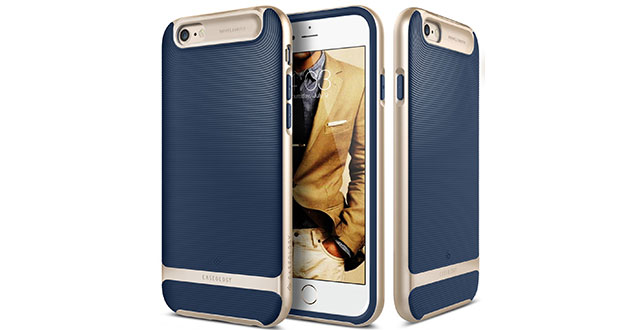 04.-Caseology-[Wavelength-Series]-[Navy-Blue]-Textured-Pattern-Grip-Cover-[Shock-Proof]-for-Apple-iPhone-6S-Plus