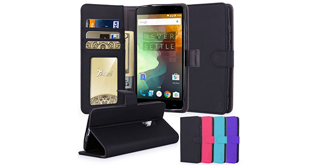 10.-Tauri-Wallet-Leather-Case-with-Stand,-ID-&-Credit-Card-Pocket-Flip-Cover-For-One-Plus-2