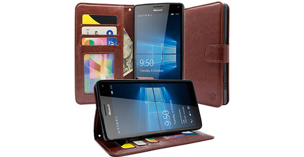 12.-HT-[Kickstand-Foldable-Feature]Wallet-Case,Premium-PU-Leather-Wallet-Case-Flip-Cover-Built-in-ID-&-Credit-Card-Slots