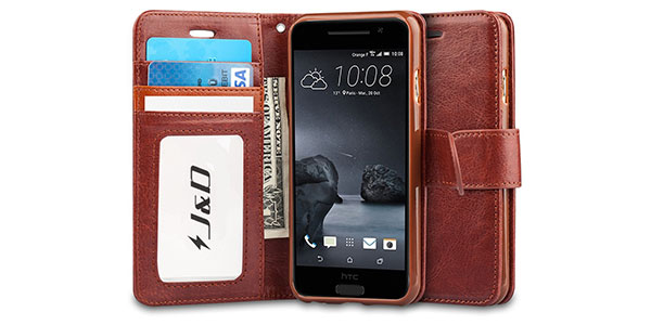 11.-J&D-[Stand-View]-HTC-One-A9-Wallet-Case-[Slim-Fit]-[Stand-Feature]-Premium-Protective-Case-Wallet-Leather-Case