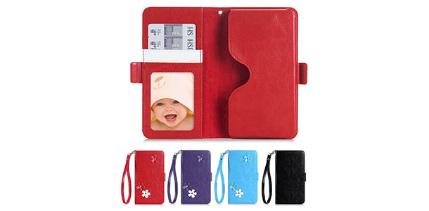 10-FYY-[Top-Notch-Series]-Premium-Leather-Wallet-Case-with-Photo-Slot,-Card-Slots,-Note-Holder,-Coin-Pocket-and-Hand-Strap-for-Blackberry-Priv